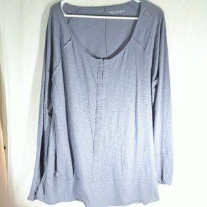 Soft Surroundings Purple Lagenlook XL Shirt
